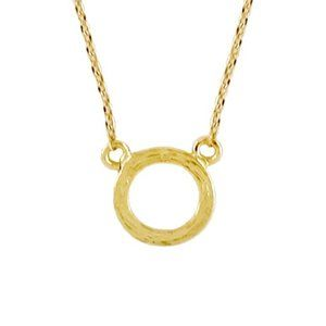 Delicate Open Circle Necklace in Gold Tone